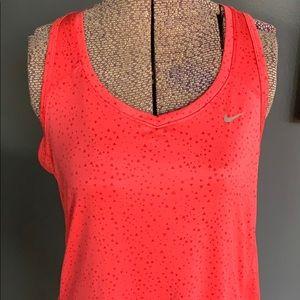 Nike Dri-fit raspberry triangle spatter tank, M